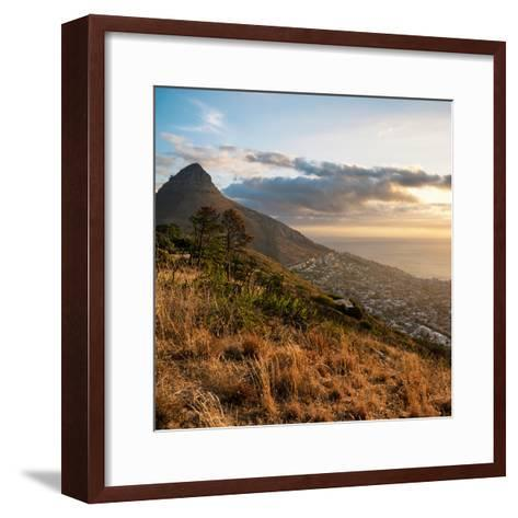 Awesome South Africa Collection Square - Cape Town at Sunset-Philippe Hugonnard-Framed Art Print