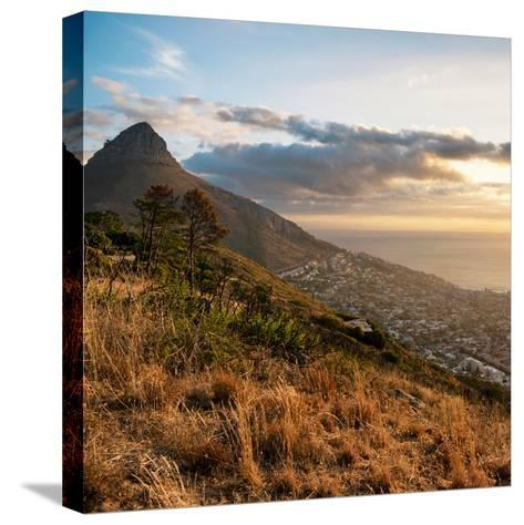 Awesome South Africa Collection Square - Cape Town at Sunset-Philippe Hugonnard-Stretched Canvas Print