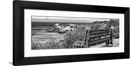Awesome South Africa Collection Panoramic - View to the Sea B&W-Philippe Hugonnard-Framed Art Print