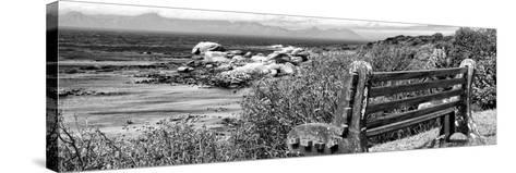 Awesome South Africa Collection Panoramic - View to the Sea B&W-Philippe Hugonnard-Stretched Canvas Print