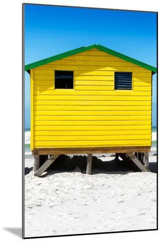 Awesome South Africa Collection - Colorful Beach Hut - Yellow & Skyblue-Philippe Hugonnard-Mounted Photographic Print