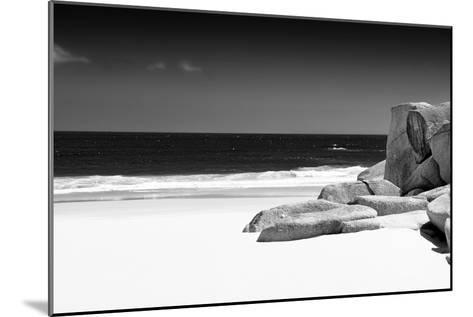 Awesome South Africa Collection B&W - Tranquil White Sand Beach-Philippe Hugonnard-Mounted Photographic Print