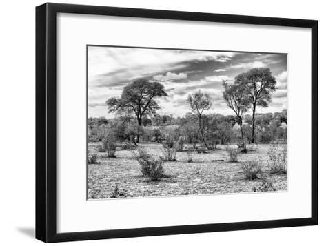 Awesome South Africa Collection B&W - African Landscape IV-Philippe Hugonnard-Framed Art Print