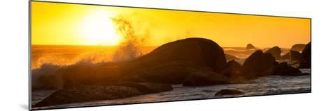 Awesome South Africa Collection Panoramic - Power of the Ocean at Sunset II-Philippe Hugonnard-Mounted Photographic Print