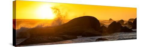 Awesome South Africa Collection Panoramic - Power of the Ocean at Sunset II-Philippe Hugonnard-Stretched Canvas Print