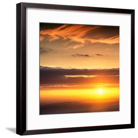Awesome South Africa Collection Square - Sunset-Philippe Hugonnard-Framed Art Print