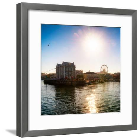 Awesome South Africa Collection Square - Cape Town Harbour at Sunset-Philippe Hugonnard-Framed Art Print