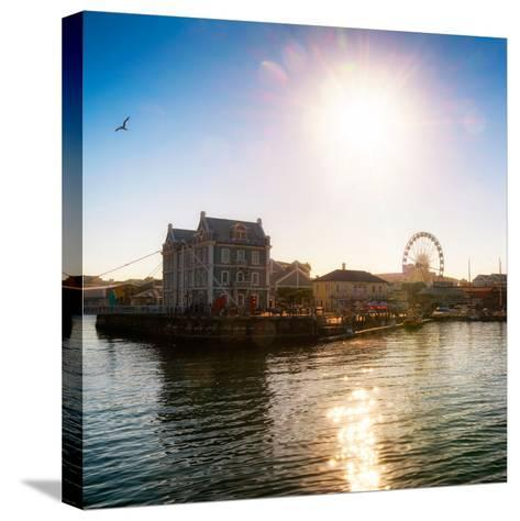 Awesome South Africa Collection Square - Cape Town Harbour at Sunset-Philippe Hugonnard-Stretched Canvas Print