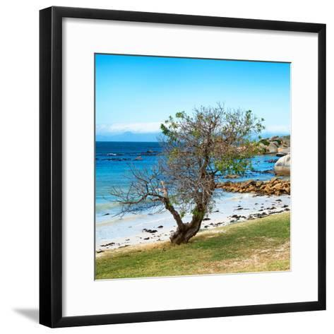 Awesome South Africa Collection Square - Alone on the Beach-Philippe Hugonnard-Framed Art Print