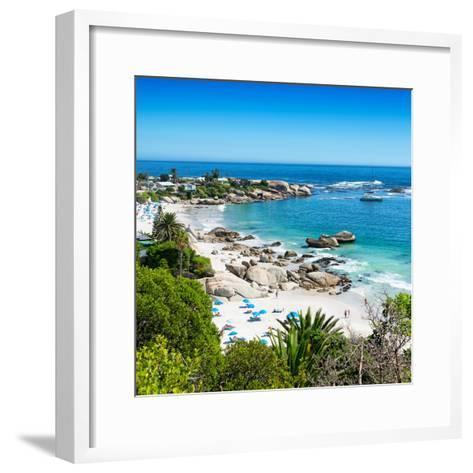 Awesome South Africa Collection Square - Clifton Beach - Camps Bay-Philippe Hugonnard-Framed Art Print