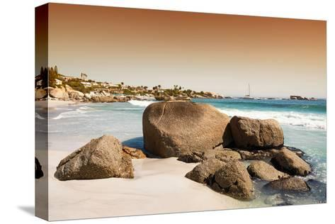 Awesome South Africa Collection - Clifton Beach at Sunset-Philippe Hugonnard-Stretched Canvas Print