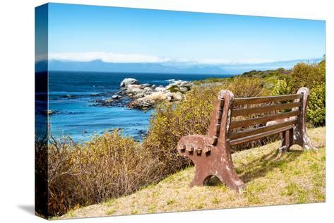 Awesome South Africa Collection - Lonely Bench II-Philippe Hugonnard-Stretched Canvas Print