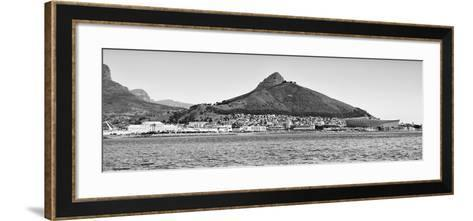 Awesome South Africa Collection Panoramic - Idyllic Moutain and sea Scenery - Cape Town B&W-Philippe Hugonnard-Framed Art Print