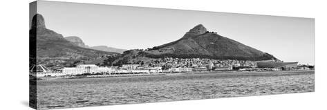 Awesome South Africa Collection Panoramic - Idyllic Moutain and sea Scenery - Cape Town B&W-Philippe Hugonnard-Stretched Canvas Print