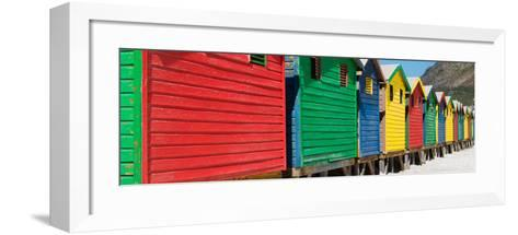 Awesome South Africa Collection Panoramic - Colorful Beach Huts-Philippe Hugonnard-Framed Art Print