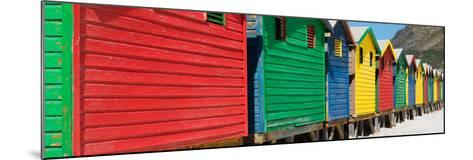 Awesome South Africa Collection Panoramic - Colorful Beach Huts-Philippe Hugonnard-Mounted Photographic Print