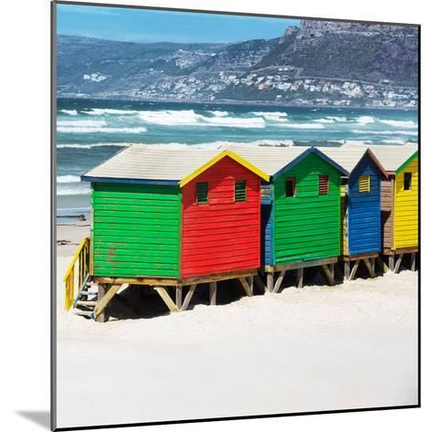 Awesome South Africa Collection Square - Colorful Beach Huts - Cape Town II-Philippe Hugonnard-Mounted Photographic Print