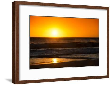 Awesome South Africa Collection - Sunset Blazing Sun over the Ocean-Philippe Hugonnard-Framed Art Print