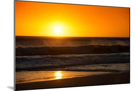 Awesome South Africa Collection - Sunset Blazing Sun over the Ocean-Philippe Hugonnard-Mounted Photographic Print