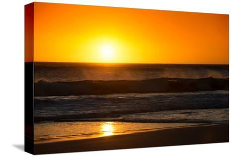 Awesome South Africa Collection - Sunset Blazing Sun over the Ocean-Philippe Hugonnard-Stretched Canvas Print
