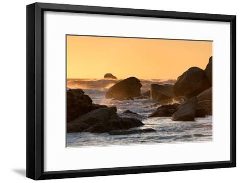 Awesome South Africa Collection - Power of the Ocean at Sunset-Philippe Hugonnard-Framed Art Print