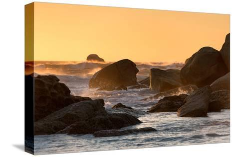 Awesome South Africa Collection - Power of the Ocean at Sunset-Philippe Hugonnard-Stretched Canvas Print