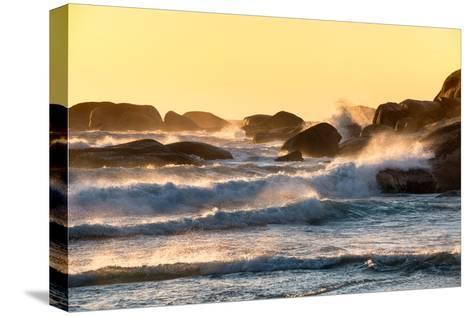 Awesome South Africa Collection - Powerful Ocean Wave at Sunset-Philippe Hugonnard-Stretched Canvas Print
