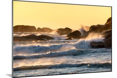 Awesome South Africa Collection - Powerful Ocean Wave at Sunset-Philippe Hugonnard-Mounted Photographic Print