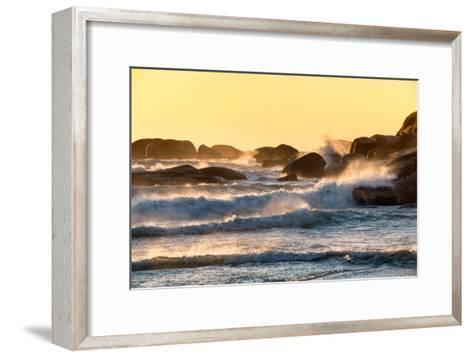 Awesome South Africa Collection - Powerful Ocean Wave at Sunset-Philippe Hugonnard-Framed Art Print