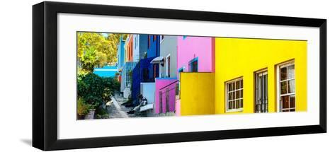 Awesome South Africa Collection Panoramic - Colorful Houses - Cape Town II-Philippe Hugonnard-Framed Art Print