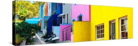Awesome South Africa Collection Panoramic - Colorful Houses - Cape Town II-Philippe Hugonnard-Stretched Canvas Print