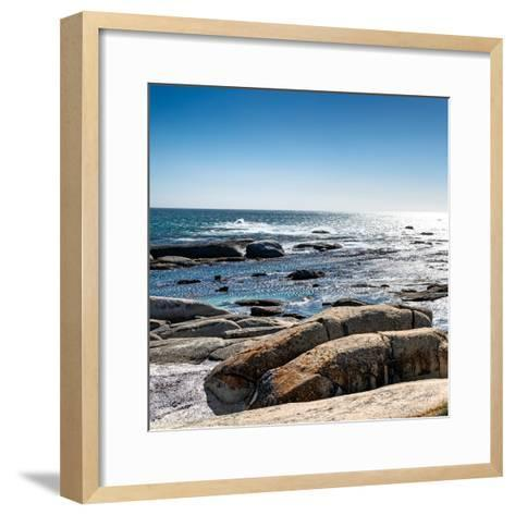 Awesome South Africa Collection Square - View of the South Atlantic Ocean II-Philippe Hugonnard-Framed Art Print