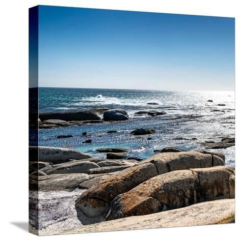Awesome South Africa Collection Square - View of the South Atlantic Ocean II-Philippe Hugonnard-Stretched Canvas Print