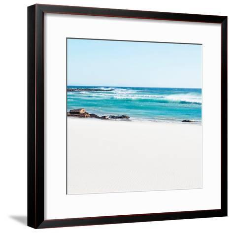 Awesome South Africa Collection Square - White Sand-Philippe Hugonnard-Framed Art Print