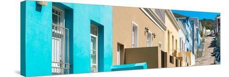 Awesome South Africa Collection Panoramic - Colorful Houses - Cape Town III-Philippe Hugonnard-Stretched Canvas Print