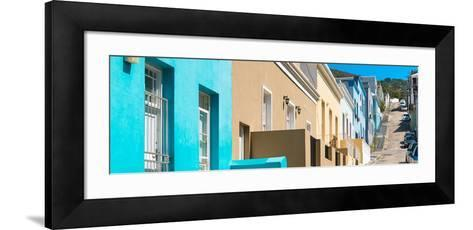 Awesome South Africa Collection Panoramic - Colorful Houses - Cape Town III-Philippe Hugonnard-Framed Art Print