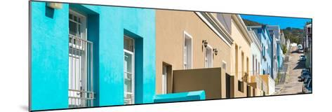 Awesome South Africa Collection Panoramic - Colorful Houses - Cape Town III-Philippe Hugonnard-Mounted Photographic Print