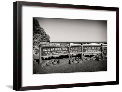 Awesome South Africa Collection B&W - Cape of Good Hope Sign-Philippe Hugonnard-Framed Art Print
