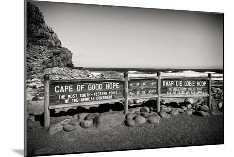 Awesome South Africa Collection B&W - Cape of Good Hope Sign-Philippe Hugonnard-Mounted Photographic Print