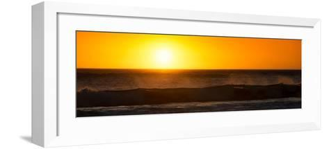 Awesome South Africa Collection Panoramic - Ocean at Sunset-Philippe Hugonnard-Framed Art Print