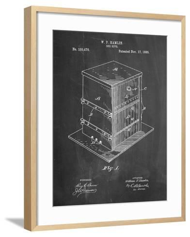 Bee Hive Exterior Patent-Cole Borders-Framed Art Print