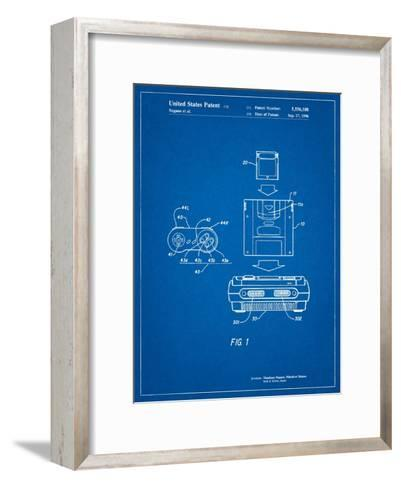 Super Nintendo Console Remote and Cartridge Patent-Cole Borders-Framed Art Print