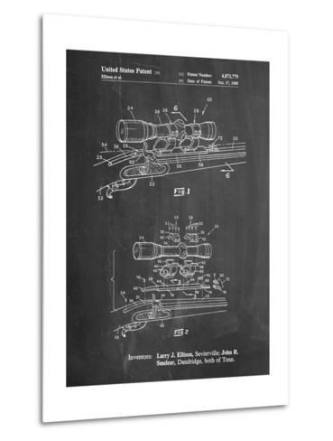 Black Powder Rifle Scope Patent-Cole Borders-Metal Print