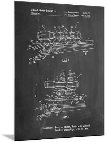 Black Powder Rifle Scope Patent-Cole Borders-Mounted Art Print