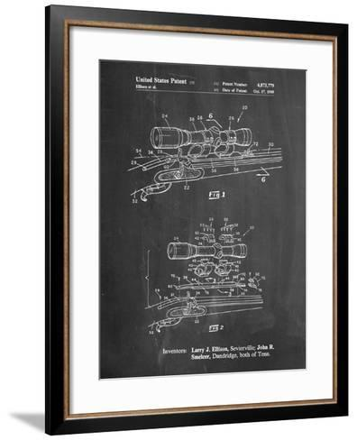 Black Powder Rifle Scope Patent-Cole Borders-Framed Art Print