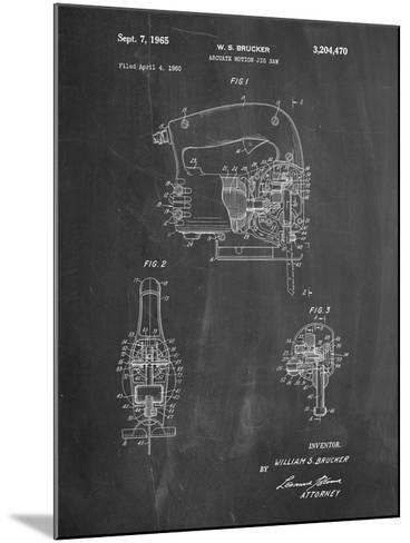 Black and Decker Jigsaw Patent-Cole Borders-Mounted Art Print