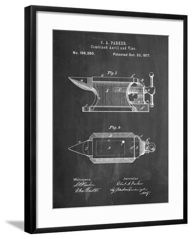 Blacksmith Anvil Patent-Cole Borders-Framed Art Print