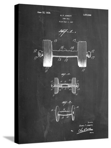 Dumbbell Patent-Cole Borders-Stretched Canvas Print