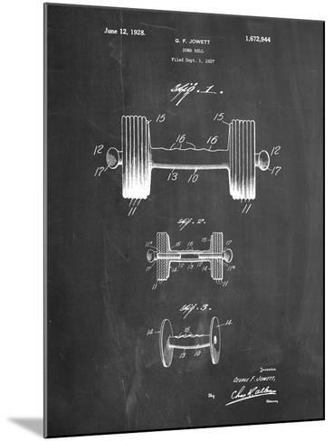 Dumbbell Patent-Cole Borders-Mounted Art Print