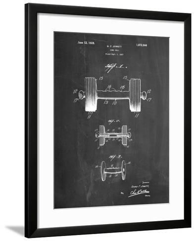 Dumbbell Patent-Cole Borders-Framed Art Print